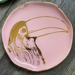 Arlington Designs toucan salad plate